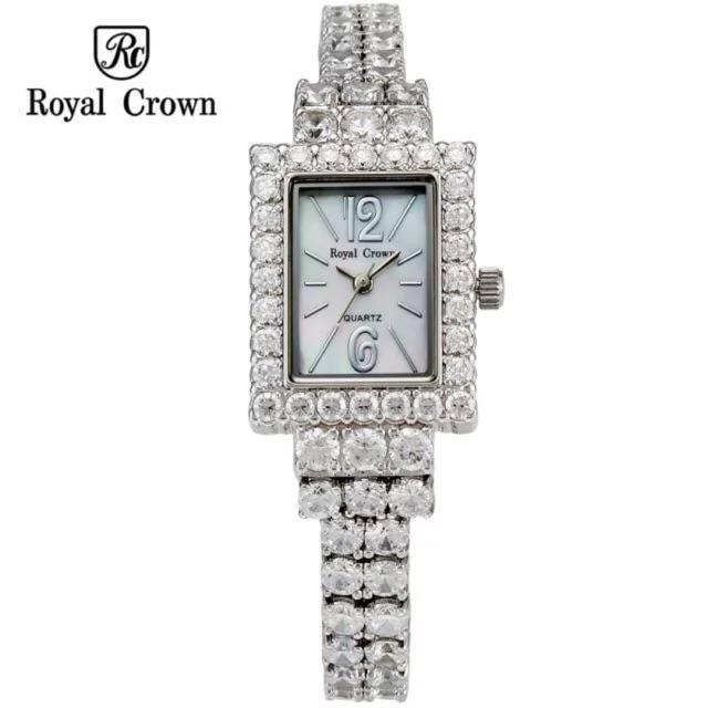 Đồng Hồ Royal Crown 3584 Dây Đính Full Đá 24x32mm Chính Hãng